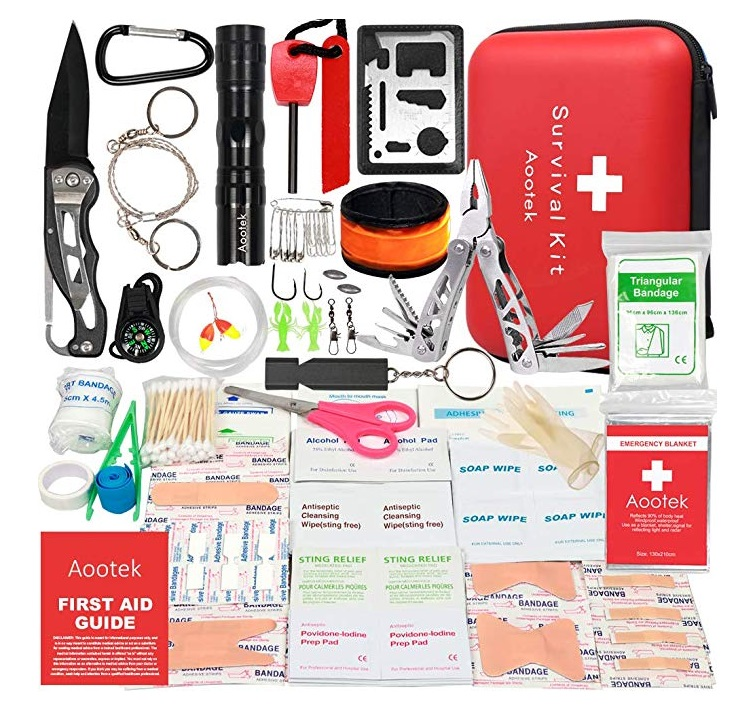 Best Emergency Survival Kits - Aootek Upgraded First Aid Survival & Emergency Kit