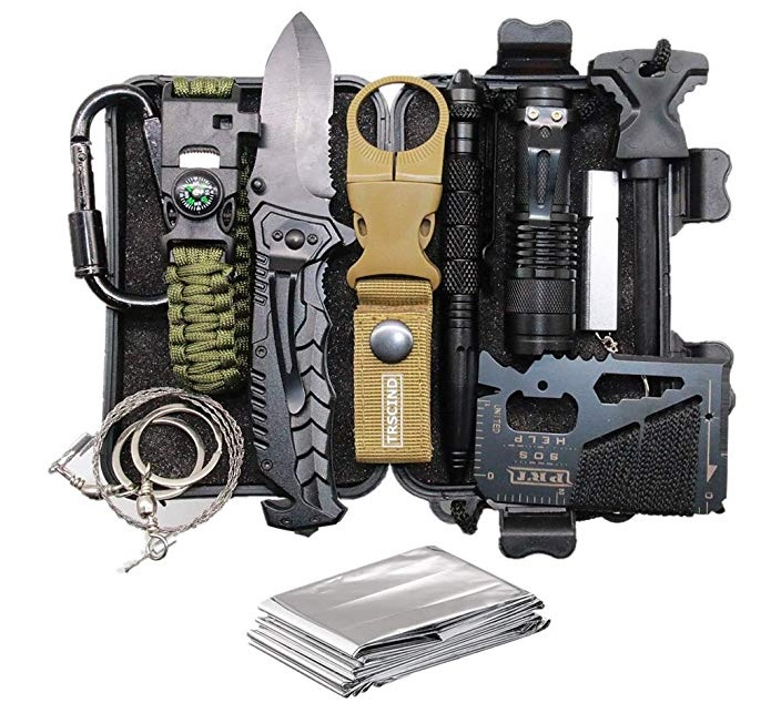 Best Emergency Survival Kits - TRSCIND Survival Kit-3 13-in-1 SOS Tool