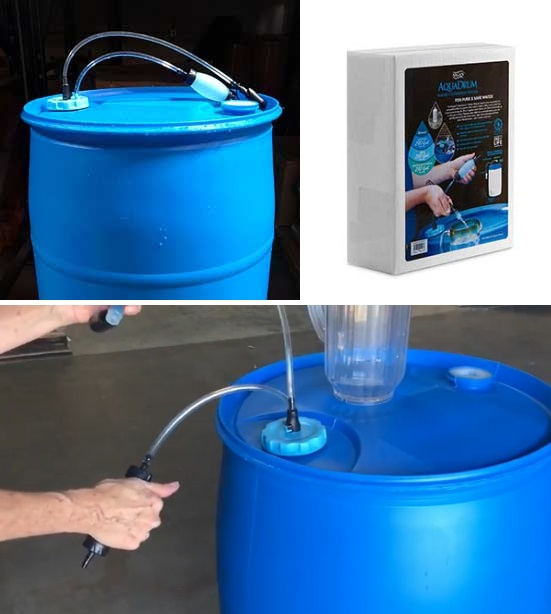 Emergency Water Filters - AquaDrum Water Filtration System by Sagan Life