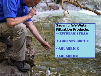 XStream Straw AquaBrick Journey AquaDrum Water Filtration System by Sagan Life