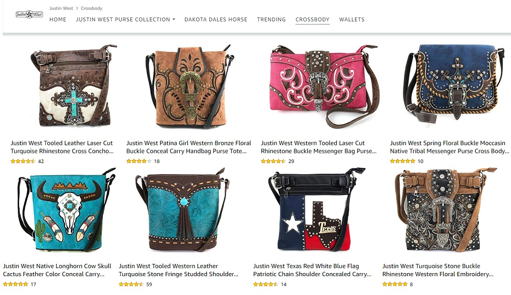 Justin West Concealed Carry Purse Collection