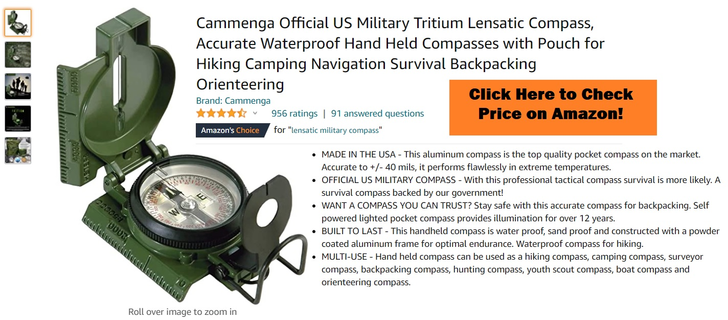 Cammenga Official US Military Tritium Lensatic Compass